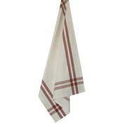 "Terra Cotta Stripe - Cream Towel 20""X28"""