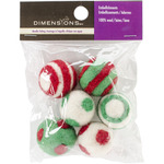 6/Pkg - Feltworks Holiday Balls