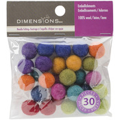 30/Pkg - Feltworks Ball Assortment