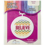 """2.5"""" Round 18 Count - Believe Mini Counted Cross Stitch Kit"""