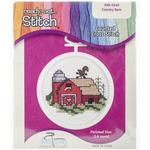 """2.5"""" Round 18 Count - Barn Mini Counted Cross Stitch Kit"""