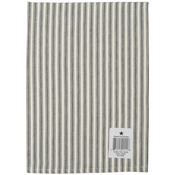 "Cream Ticking Stripe Towel 20""X28""-Black"