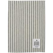"Cream Ticking Stripe Towel 20""X28""-Black"