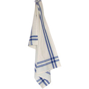 "Provencial Blue Stripe - Cream Towel 20""X28"""
