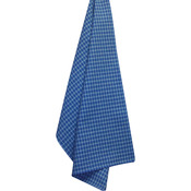 "Provencial Blue - Cream Windowpane Plain Weave Towel 20""X28"""