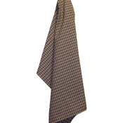 "Brown - Cream Windowpane Plain Weave Towel 20""X28"""