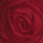 "Cherry Red - Wool Roving 12"" .22oz"