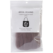 "Taupe - Wool Roving 12"" .22oz"