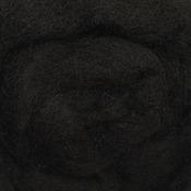 """Black - Wool Roving 12"""" .22oz"""