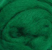 "Green - Wool Roving 12"" .22oz"