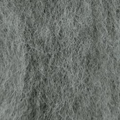 "Medium Gray - Wool Roving 12"" .22oz"