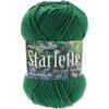 Grass Green - Starlette Yarn MARY MAXIM-Starlette Yarn. This premium worsted weight yarn is made of a 4-ply 100% ultra soft acrylic that is easy to work with. Moth-proof and non-allergenic makes this yarn perfect for everything from clothing and accessories to home decor.  Weight category: 4, 100% acrylic. Solids & Ombres 3.5oz/100gm, 180yd/ 164.59m. Gauge: 18st x 24r = 4in/10cm on size US8/5.0mm. Recommended crochet hook size H8/5mm. Dyelotted: we are not always able to match dyelots. Care: Machine wash cold, tumble dry.  Imported.