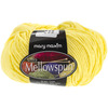 Bright Yellow - Ultra Mellowspun Yarn MARY MAXIM-Ultra Mellowspun Yarn. This yarn is a premium blend of nylon. Is it super soft, lightweight and comes in an array of beautiful colors! Weight category: 3. Content: 70% acrylic and 30% nylon. Putup: 1.75oz/50g, 174yd/160m. Gauge: 22s x 26r =4in/10cm on size US 6 knitting needles. Suggested crochet hook size G6. Dyelotted: we try but are not always able to match dyelots. Machine wash gentle cycle for two minutes, tumble dry low heat for 5 minutes, lay flat to dry. Imported.