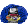 Royal - Ultra Mellowspun Yarn MARY MAXIM-Ultra Mellowspun Yarn. This yarn is a premium blend of nylon. Is it super soft, lightweight and comes in an array of beautiful colors! Weight category: 3. Content: 70% acrylic and 30% nylon. Putup: 1.75oz/50g, 174yd/160m. Gauge: 22s x 26r =4in/10cm on size US 6 knitting needles. Suggested crochet hook size G6. Dyelotted: we try but are not always able to match dyelots. Machine wash gentle cycle for two minutes, tumble dry low heat for 5 minutes, lay flat to dry. Imported.