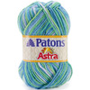 Fun & Games - Astra Yarn Ombres PATONS-Astra Yarn.  Paton is right-on-trend with this yarn which is ideal for those casual fashions for the whole family.  Weight category: 3.  Solids: 100% acrylic, 1.75oz/50g, 161yd/147m. Variegated: 100% acrylic, 1.75oz/50g, 133yd/122m.  Crystal: 89% acrylic/11% olefin, 1.75oz/50g, 161yds/147m.  Gauge: 22 stitches x 28 rows = 4in (10cm) size 6/4mm knitting needles and on size F/3.75mm crochet hook.  Care: machine wash, tumble dry, do not bleach, do not dry clean, do not iron.  Imported.