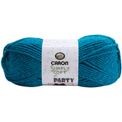 Teal Sparkle - Simply Soft Party Yarn