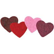 4/Pkg - Feltworks Multicolor Hearts