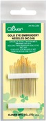 Size 3/9 16/Pkg - Gold Eye Embroidery Needles