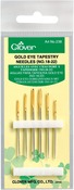 Size 18/22 6/Pkg - Gold Eye Tapestry Needles