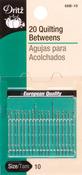 Size 10 20/Pkg - Betweens Hand Needles