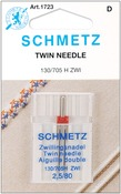 Size 2.5/80 1/Pkg - Twin Machine Needle
