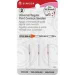Size 12/80 3/Pkg - Universal Regular Point Overlock Machine Needles