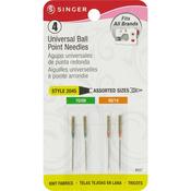 Sizes 9/70 (2) & 11/80 (2) - Universal Ball Point Machine Needles