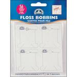 56/Pkg - Cardboard Floss Bobbins