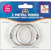 "2/Pkg - Metal Rings 1.5"""