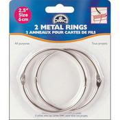 "2/Pkg - Metal Rings 2.5"""