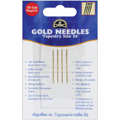 Size 26 4/Pkg - Gold Tapestry Hand Needles
