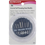 Assorted 15/Pkg - Self-Threading Hand Needle Compact