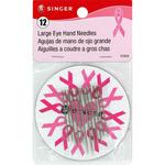 Assorted 12/Pkg - Large Eye Hand Needles W/Magnet
