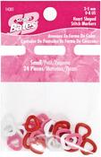 Small 24/Pkg - Heart Shape Stitch Markers