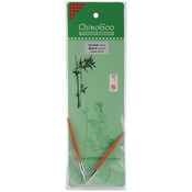 "Size 9/5.5mm - Bamboo Circular Knitting Needles 12"""