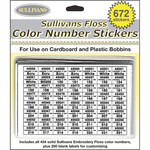 672 Stickers - Sullivans Floss Color Number Stickers