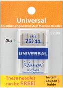 Size 11/75 5/Pkg - Klasse Universal Machine Needles
