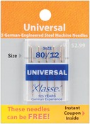 Size 12/80 5/Pkg - Klasse Universal Machine Needles