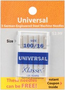 Size 16/100 5/Pkg - Klasse Universal Machine Needles