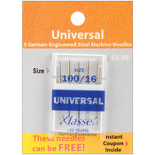 Size 18/110 5/Pkg - Klasse Universal Machine Needles