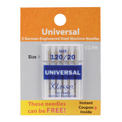 Size 20/120 5/Pkg - Klasse Universal Machine Needles