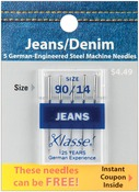 Size 14/90 5/Pkg - Klasse Jeans/Denim Machine Needles