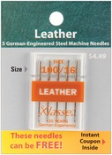 Size 16/100 5/Pkg - Klasse Leather Machine Needles