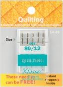 Size 12/80 5/Pkg - Klasse Quilting Machine Needles