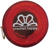 Red - Crochet Happy Tape Measure