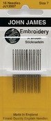 Size 7 16/Pkg - Embroidery Hand Needles