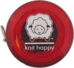 Red - Knit Happy Tape Measure