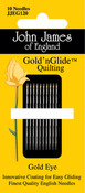 Size 12 10/Pkg - Gold'n Glide Quilting Needles
