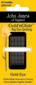 Size 11 10/Pkg - Gold'n Glide Big Eye Quilting Needles