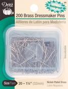Size 20 200/Pkg - Brass Dressmaker Pins